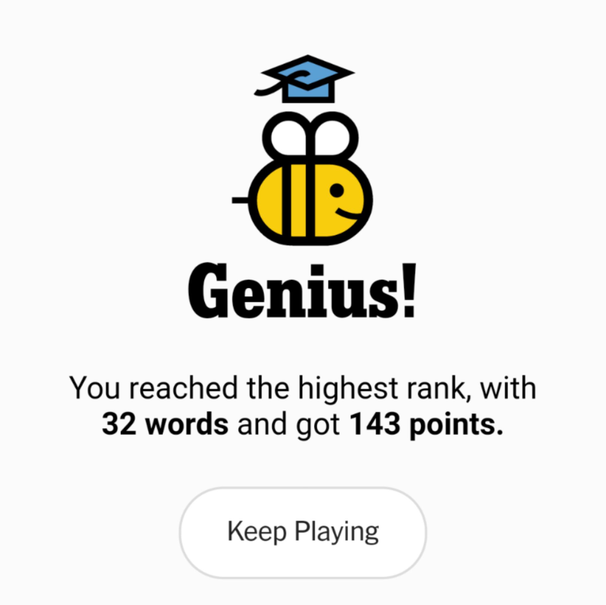 NYT Spelling Bee 9-25-20 final