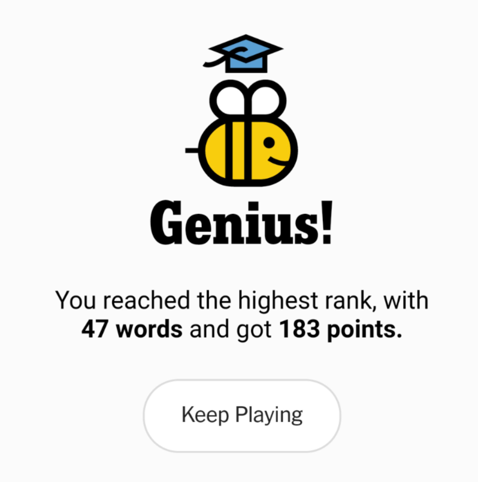 NYT Spelling Bee 9-27-20 final
