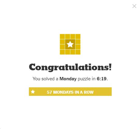 NYT Crossword 5-17-21 Complete