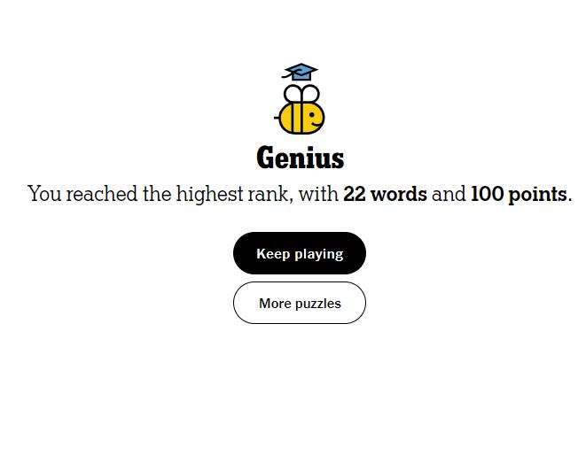 NYT Spelling Bee 5-18-21 final