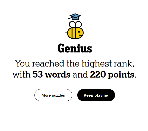 NYT Spelling Bee 6-12-21 final